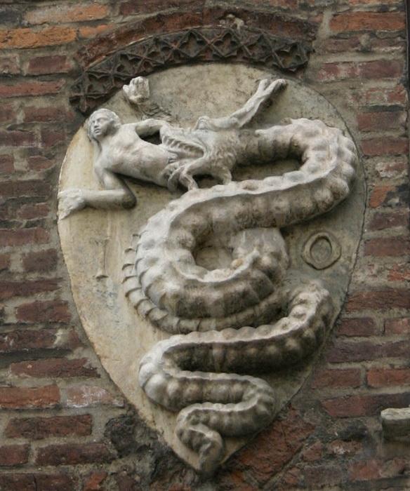 Василиск на гербе дома Висконти