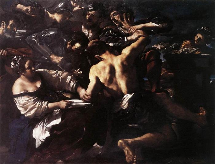 Гверчино. Самсон, захваченный филистимлянами