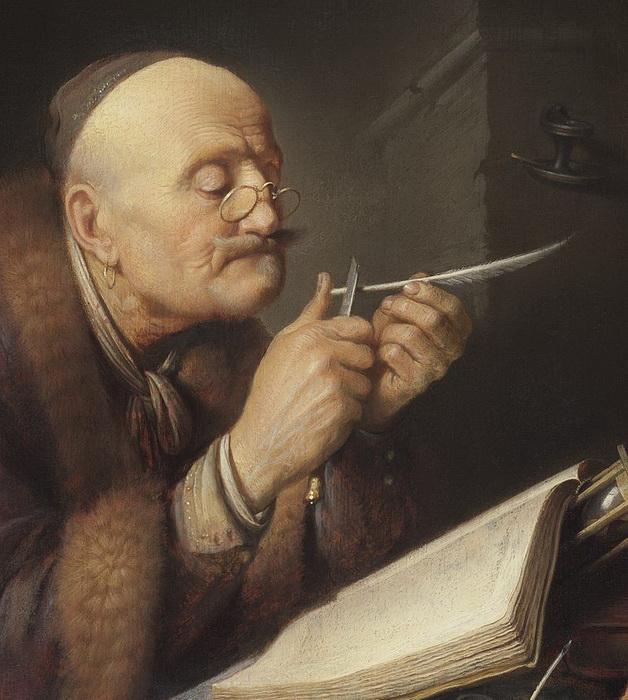 Г. Доу. «Ученый, точащий перо»