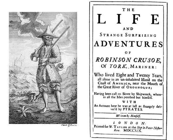 Знаменитая книга Даниэля Дефо была опубликована в 1719 году