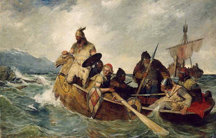 О. Вергеланд. Прибытие норвежцев в Исландию. 872 г.