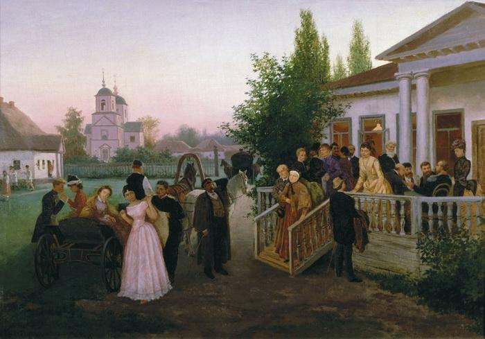 К.А. Трутовский. Разъезд гостей