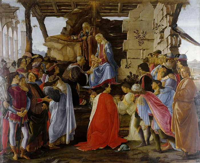На картине Сандро Боттичелли «Поклонение волхвов» можно увидеть автопортрет художника - его фигура - крайняя справа, взгляд устремлен на зрителя