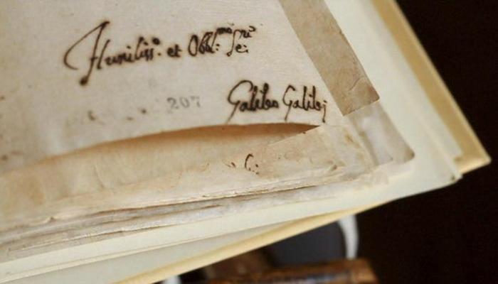 Часть протокола допроса Галилео Галилея