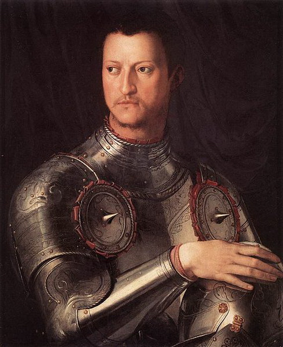 А. Бронзино. Портрет герцога Козимо I Медичи