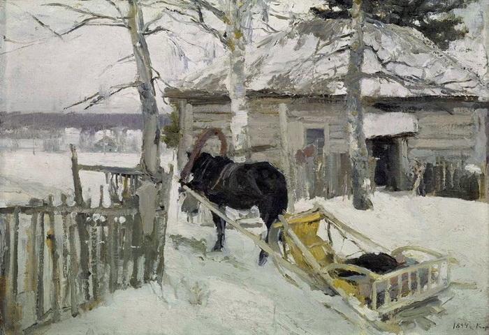 К.А. Коровин «Зимой»
