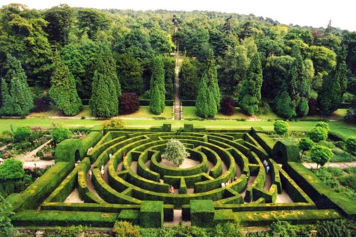 Садовый лабиринт в Чатсуорт-хаусе
