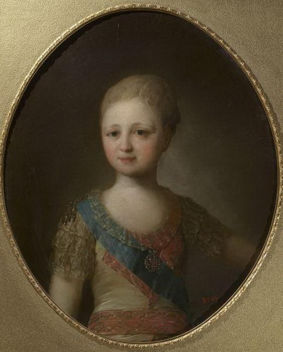 Ф.С. Рокотов. Портрет великого князя Александра Павловича в детстве