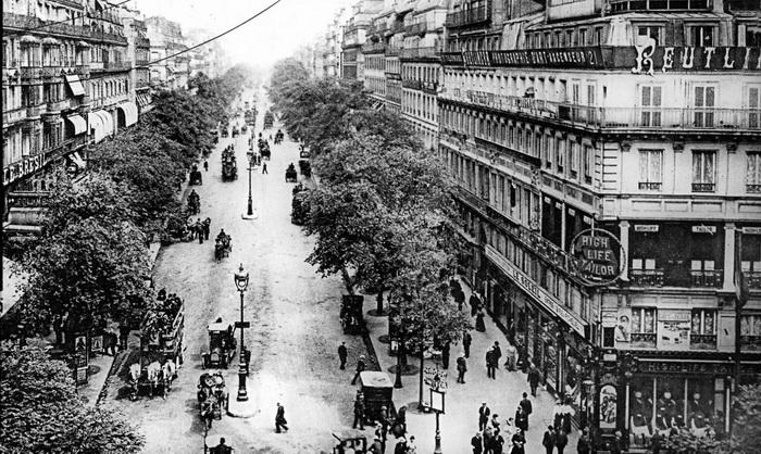 Монмартр, бульвар на рубеже XIX и XX веков