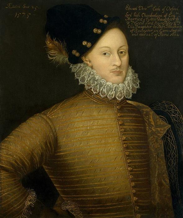 Эдвард де Вер, граф Оксфорд - более популярный, чем Ратленд, кандидат на роль подлинного автора