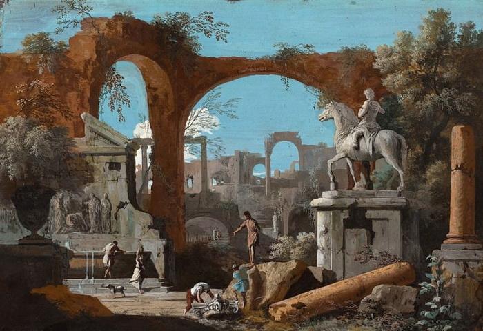 М. Риччи. Каприччио с римскими руинами