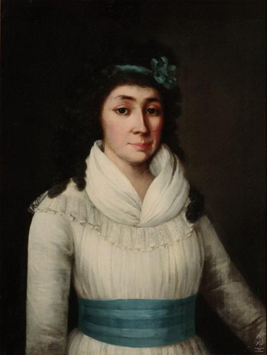 Г. Озеров. Портрет Елизаветы Яньковой в возрасте 26 лет