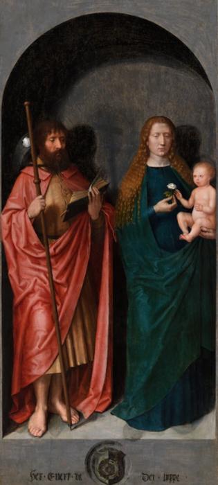 М. Зиттов. Святой Иаков и Мадонна с младенцем