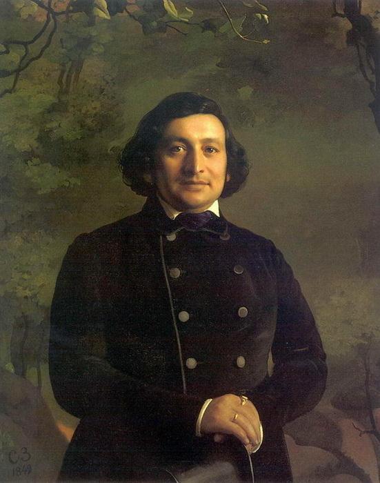 С. Зарянко. Портрет оперного артиста О.А. Петрова