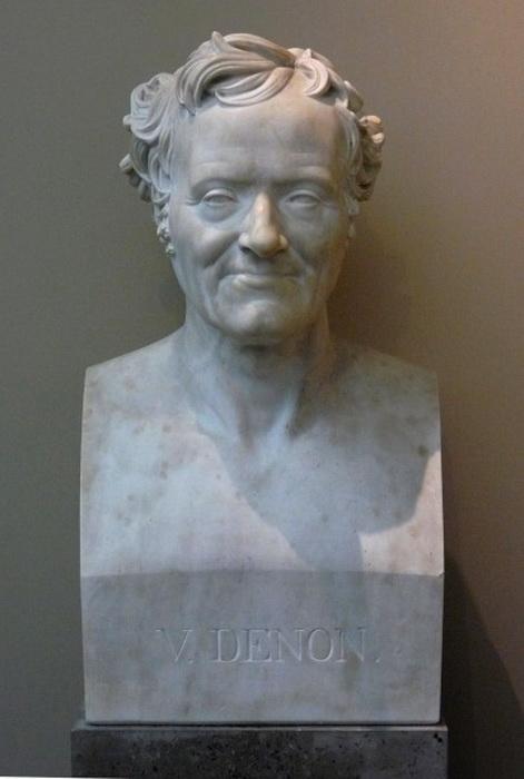 Бюст Денона работы Ж.-Ш. Марена, установленный в Лувре