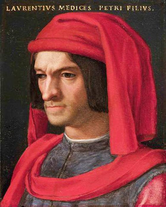 Портрет Лоренцо ди Медичи кисти А. Бронзино. Медичи считается меценатом и покровителем искусств, для Савонаролы же он был сторонником разврата и отступления от веры