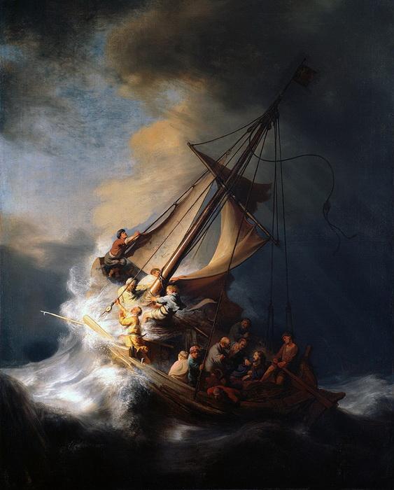 "Рембрандт. ""Христос во время шторма на море Галилейском"""
