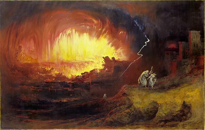 Дж. Мартин. Уничтожение Содома и Гоморры