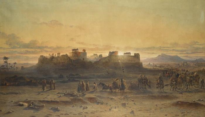 Некоторые из руин остались лишь на картинах, как. например, руины Храма Солнца в Пальмире. Архитектурная достопримечательность была уничтожена уже в XXI веке