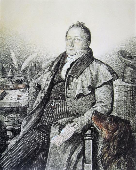 А вот с отцом поэта, Сергеем Львовичем, Гампельн был знаком - и даже рисовал его портрет