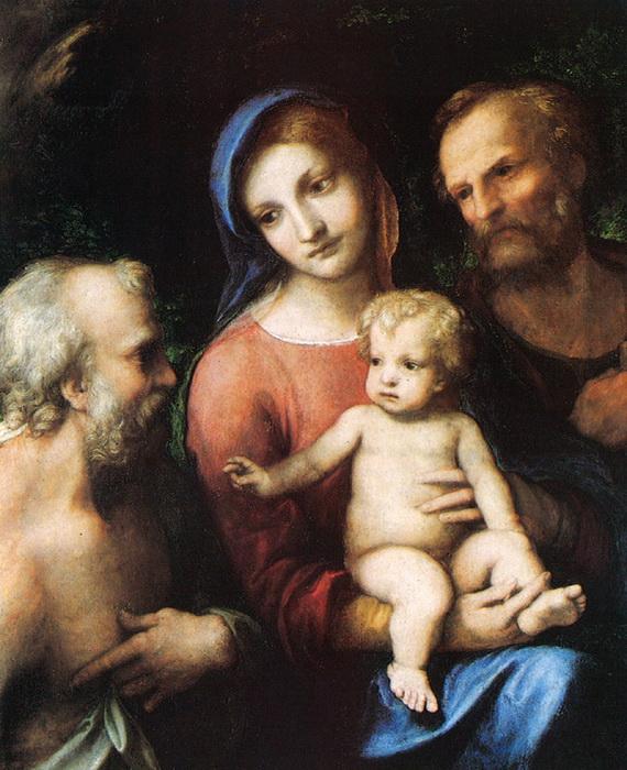 Корреджо. «Святое семейство со святым Иеронимом»