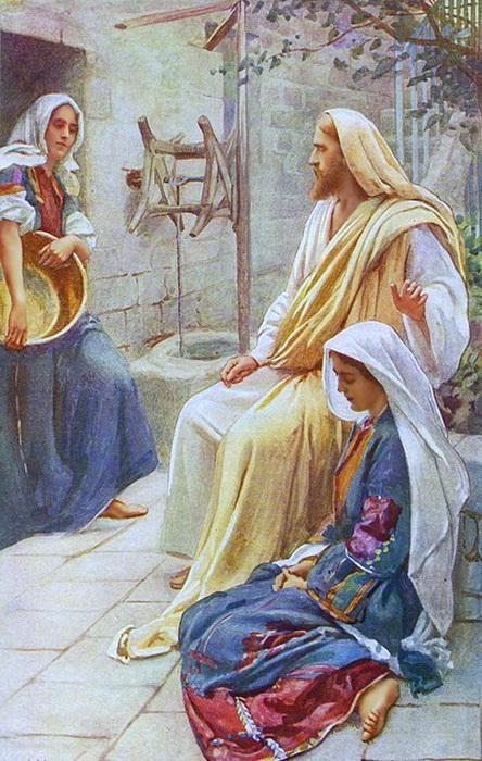 """Г. Коппинг. """"Иисус в доме Марии и Марты"""""""