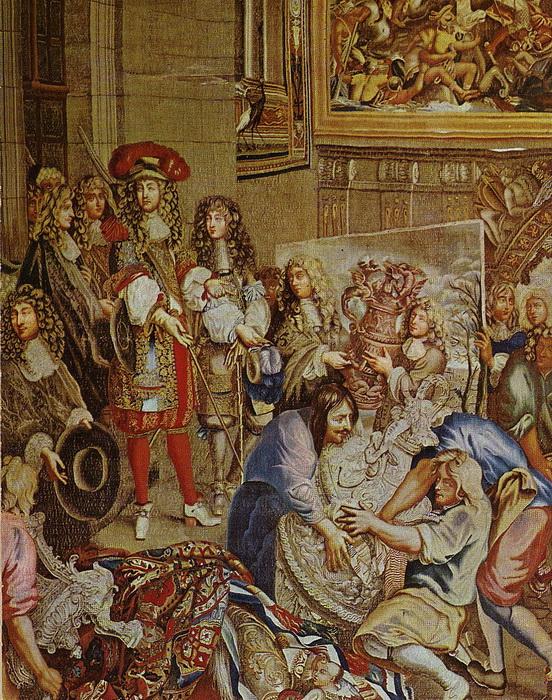 Шпалера «Людовик XIV с Кольбером посещают мануфактуру Гобеленов»
