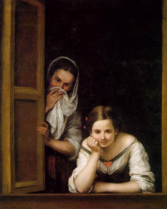 Б.Э. Мурильо. Две девушки у окна