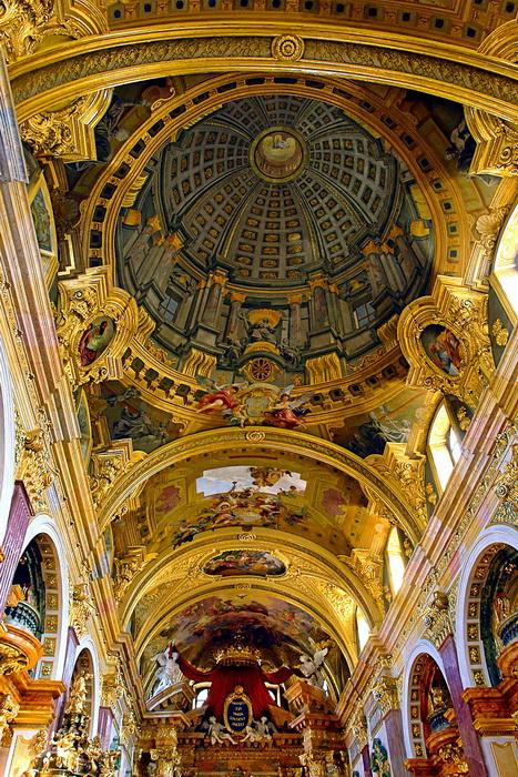 Плафон Церкви иезуитов в Вене, автор  - Андреа Поццо