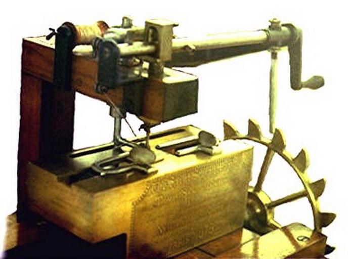 Модель машинки Сента, построенная по его чертежам