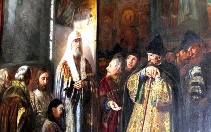 """В. Пукирев """"Митрополит Филипп отказывается благословить царя Ивана Грозного"""""""