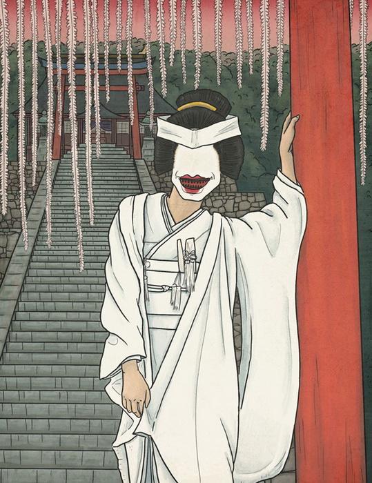 Охагуро-бэттари - призрак женщины с черными зубами