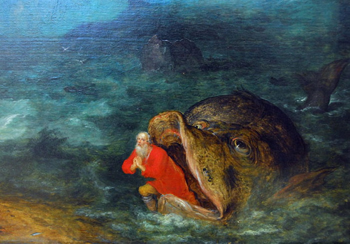 Ян Брейгель. Иона выходит из пасти кита
