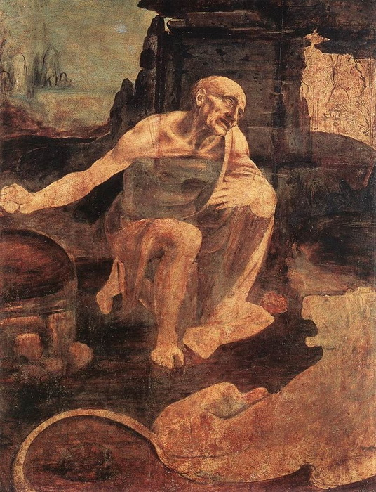 Леонардо да Винчи. «Святой Иероним». Незаконченная картина