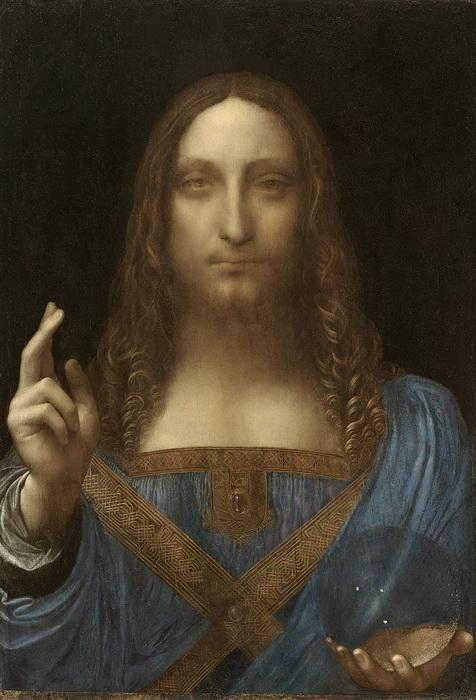 Приписываемая Леонардо да Винчи картина «Спаситель мира»
