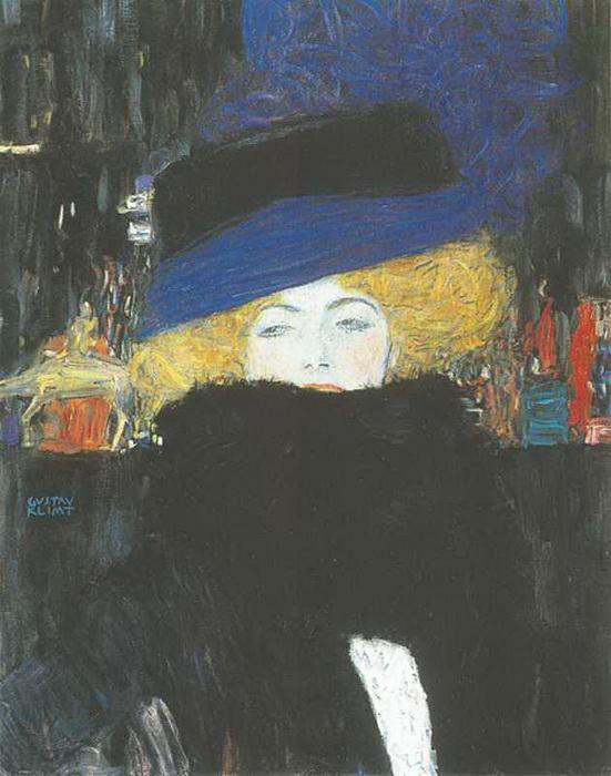 Г. Климт. Дама в шляпе и боа из перьев