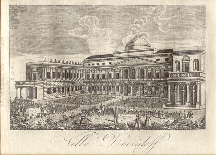 Сан-Донато на гравюре XIX века