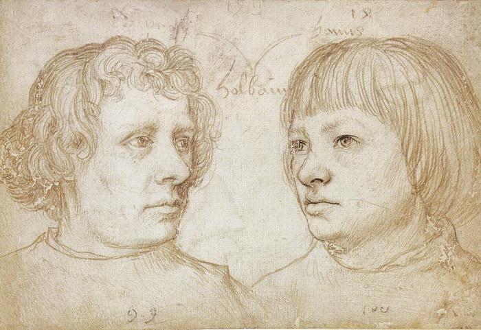Рисунок Ганса Гольбейна Старшего (отца): Ганс и Амброзиус