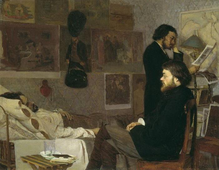 На картине К. Костанди «У больного товарища» 1884 года изображен и Дубовской, он сидит на стуле. Сюжет взят из жизни - при смерти находился художник Козьма Кудрявцев, которого пришли поддержать друзья. Вскоре после того, как картина была завершена, Кудрявцев умер