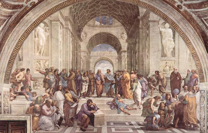 Рафаэль Санти. Афинская школа (фреска)
