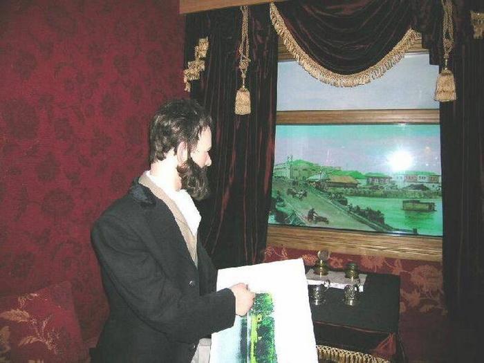 Акварели Пясецкий рисовал во время движения по вновь построенным участкам железной дороги