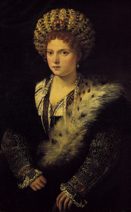 Портрет Изабеллы д'Эсте работы Тициана