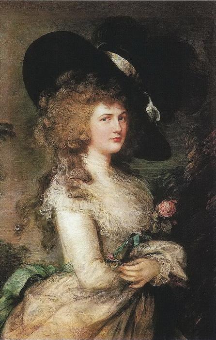 """Т. Гейнсборо. """"Портрет Джорджианы Кавендиш, герцогини Девонширской"""""""