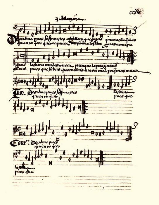 Испанский «Дворцовый песенник» XVI века