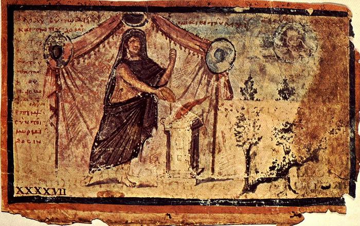 Рукопись Илиады, датирована V веком н.э.