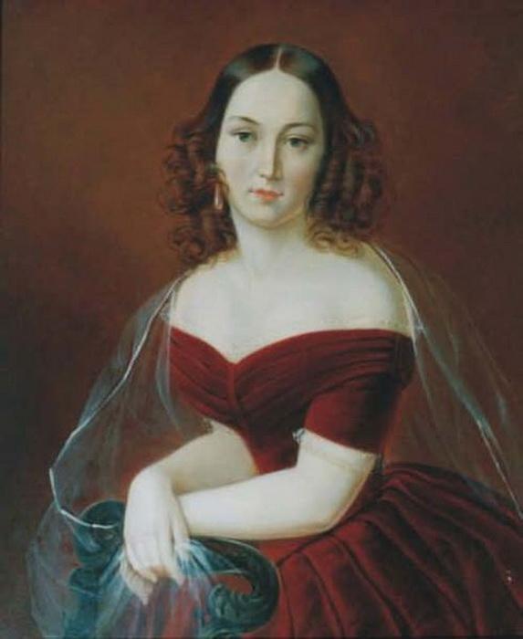 Елизавета Загряжская, жена Льва Пушкина