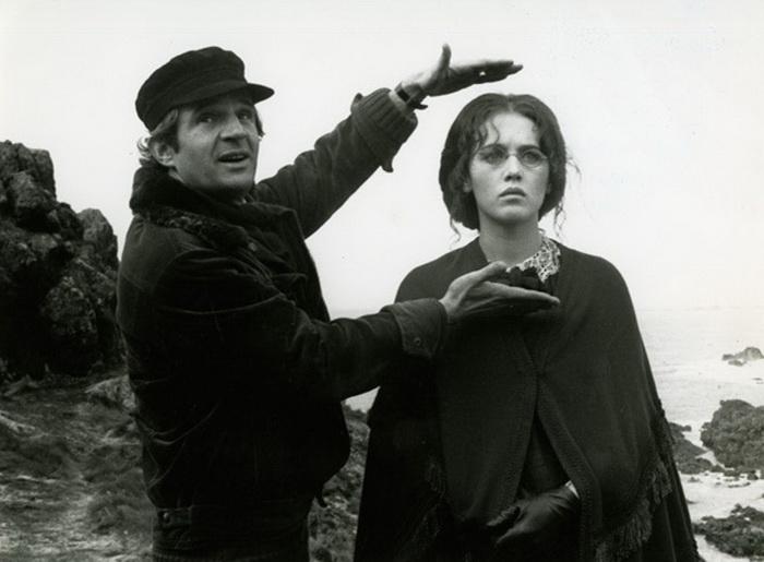 С Франсуа Трюффо на съемках фильма «История Адели Г.»