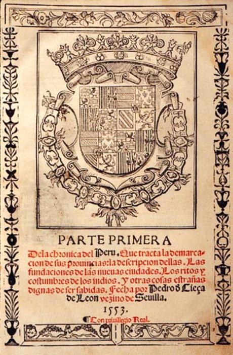 Сочинение Педро Сьеса де Леона