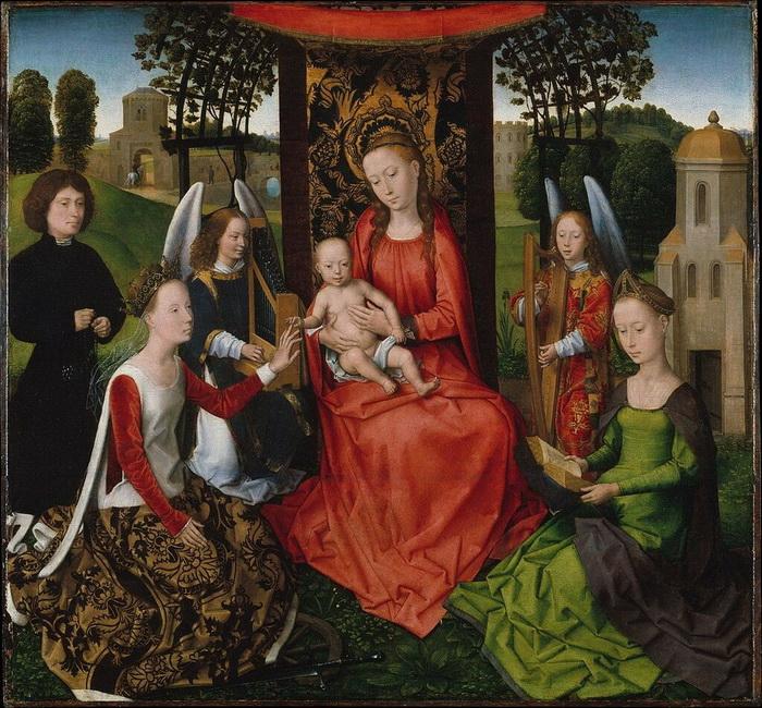 Г. Мемлинг. Обручение Святой Екатерины
