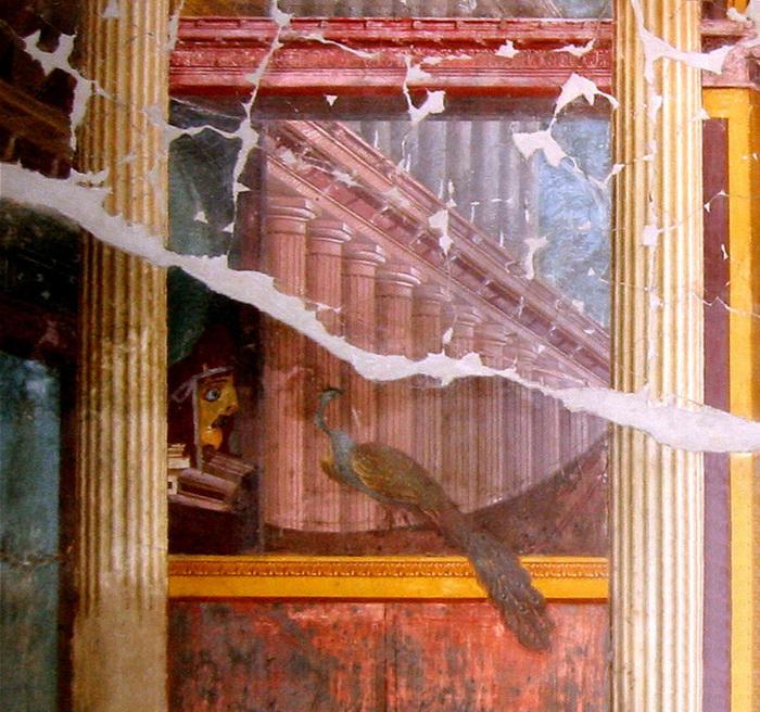 Древнеримская фреска, вилла Поппеа